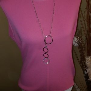 Chico's Circle Necklace w/ Bling